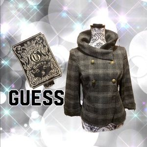 Guess tweed pea coat